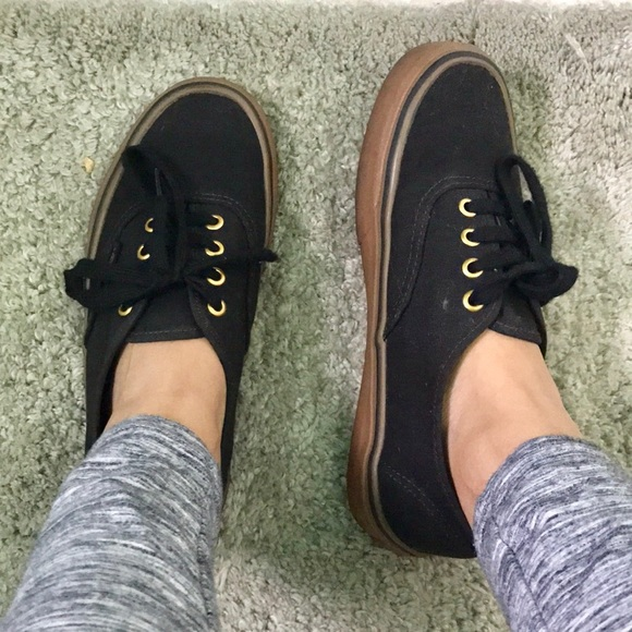 vans gum sole on feet